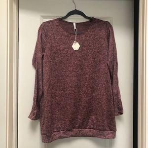PinkBlush Maternity Sweater with latticework